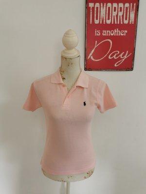 Polo By Ralph Lauren Damen Poloshirt Sport rosa kurzarm Shirt Größe M