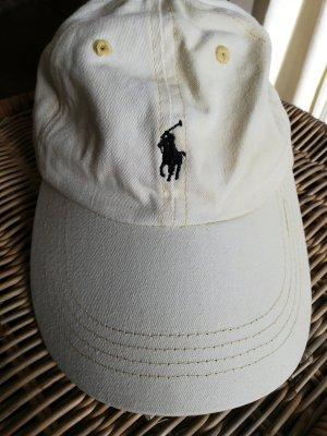 POLO GOLF Ralph Lauren Visor Cap pale yellow cotton