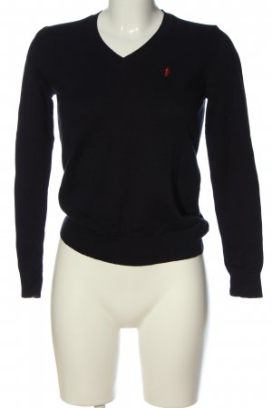 Polo Club V-Neck Sweater black casual look