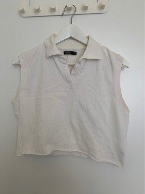 Bershka T-shirt court blanc