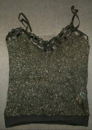 Polo Garage Gebreid shirt zwart-zilver