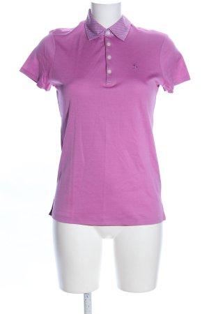POLO GOLF Ralph Lauren Polo-Shirt lila Schriftzug gestickt Casual-Look