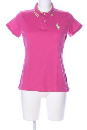 POLO GOLF Ralph Lauren Polo-Shirt pink Schriftzug gestickt Casual-Look