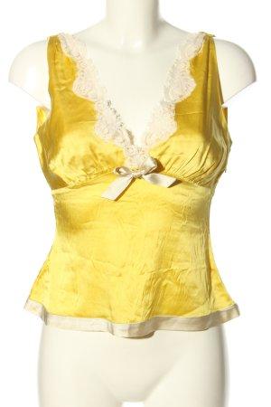Polo Jeans Co. Ralph Lauren ärmellose Bluse blassgelb-creme Elegant