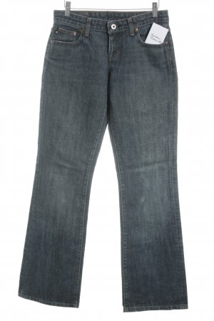 Polo Jeans Co. Ralph Lauren Boot Cut Jeans dunkelblau-wollweiß Washed-Optik