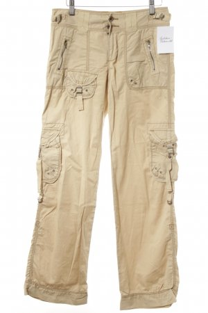 Polo Jeans Co. Ralph Lauren Cargohose hellbeige Logo-Applikation