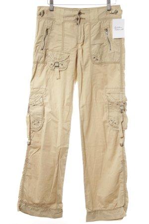 Polo Jeans Co. Ralph Lauren Cargohose hellbeige Logo-Applikation