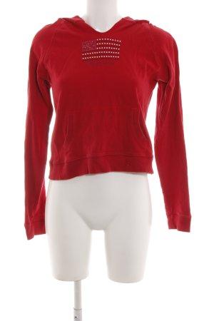 Polo Jeans Co. Ralph Lauren Top à capuche rouge style décontracté