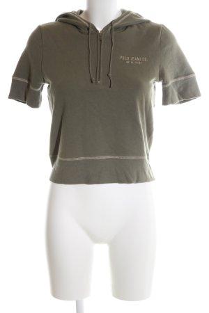 Polo Jeans Co. Ralph Lauren Top à capuche kaki lettrage imprimé