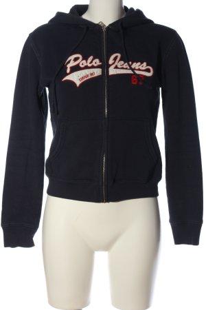 Polo Jeans Co. Ralph Lauren Sweat à capuche noir lettrage imprimé