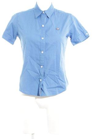 Polo Jeans Co. Ralph Lauren Kurzarm-Bluse blau Business-Look