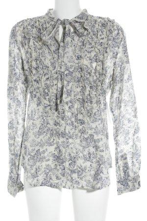 Polo Jeans Co. Ralph Lauren Langarm-Bluse hellbeige-dunkelblau Blumenmuster