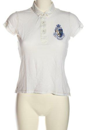 Polo Jeans Co. Ralph Lauren Polo-Shirt weiß Schriftzug gestickt Casual-Look
