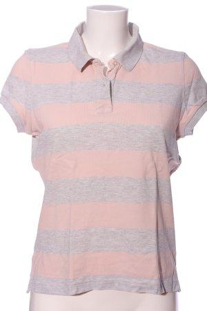 Polo Jeans Co. Ralph Lauren Polo rose-gris clair moucheté style décontracté