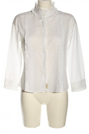 Polo Jeans Co. Ralph Lauren Rüschen-Bluse weiß Casual-Look