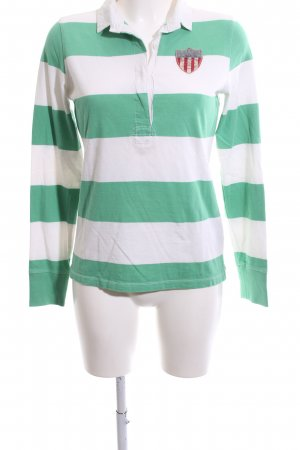 Polo Jeans Co. Ralph Lauren Polo de rugby vert-blanc motif rayé
