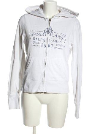 Polo Jeans Co. Ralph Lauren Sweatjacke weiß-hellgrau Schriftzug gedruckt