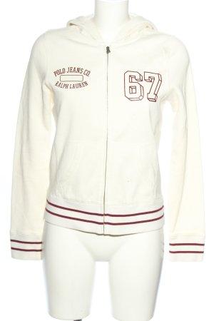 Polo Jeans Co. Ralph Lauren Sweatjacke weiß Schriftzug gedruckt Casual-Look