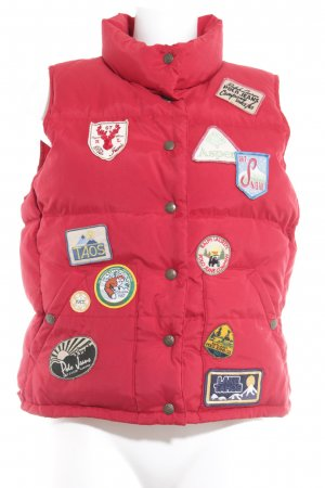 Polo Jeans Co. Ralph Lauren Reversible Vest brick red quilting pattern
