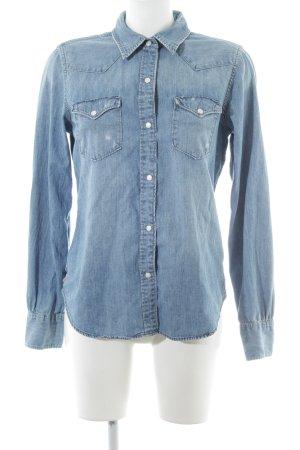 Polo Jeans Company Jeansbluse blau Casual-Look