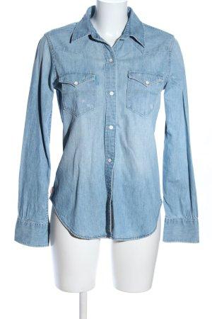 Polo Jeans Company Chemise en jean bleu style décontracté