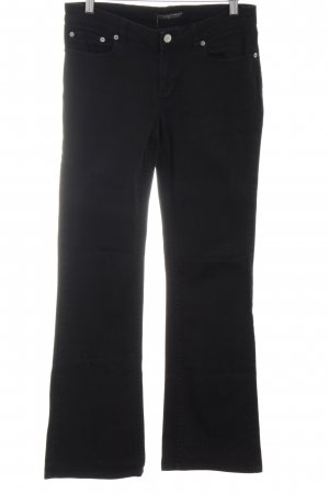 Polo Jeans Company Jeansschlaghose schwarz Business-Look