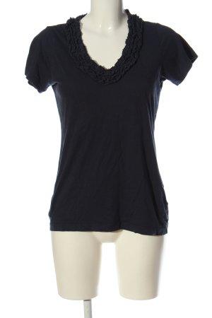 Polo Jeans Company Kurzarm-Bluse schwarz Casual-Look