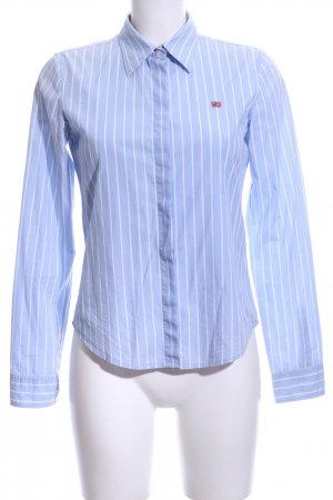 Polo Jeans Company Chemise à manches longues bleu azur-blanc motif rayé