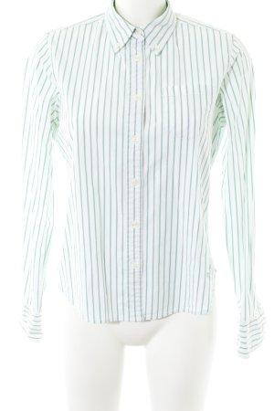 Polo Jeans Company Chemise à manches longues blanc-vert menthe motif rayé