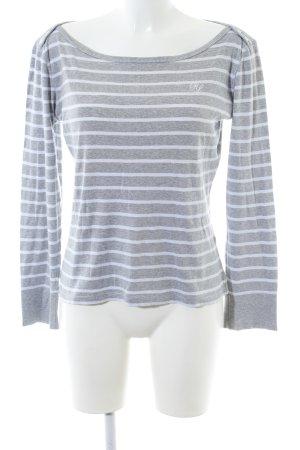 Polo Jeans Company Longshirt hellgrau-weiß Streifenmuster Casual-Look