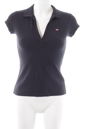 Polo Jeans Company Polo-Shirt blau Casual-Look