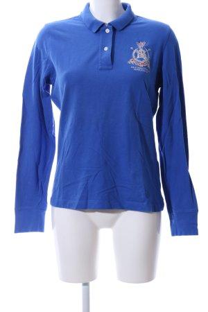 Polo Jeans Company Polo-Shirt blau Schriftzug gestickt Casual-Look