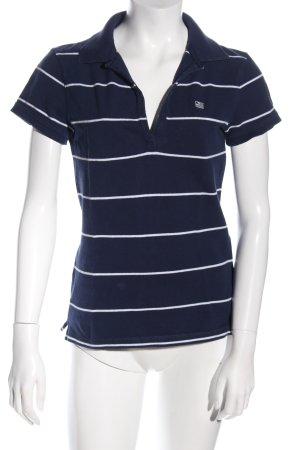 Polo Jeans Company Polo-Shirt blau-weiß Streifenmuster Casual-Look