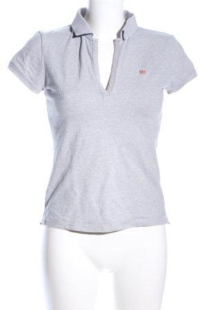 Polo Jeans Company Polo-Shirt hellgrau meliert Casual-Look