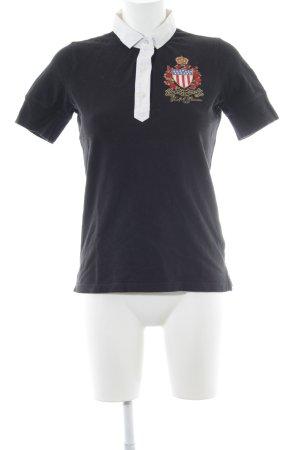 Polo Jeans Company Polo-Shirt Schriftzug gestickt Casual-Look