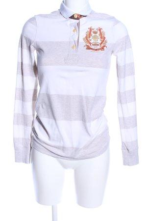 Polo Jeans Company Polo-Shirt weiß-braun meliert Casual-Look