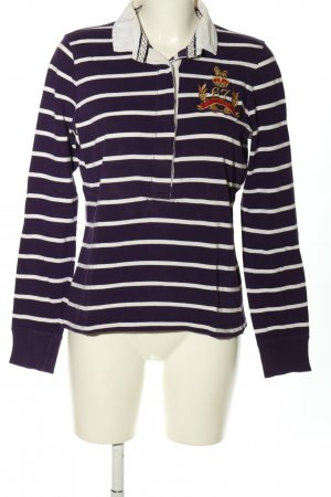 Polo Jeans Company Rugbyshirt lila-wit gestreept patroon casual uitstraling