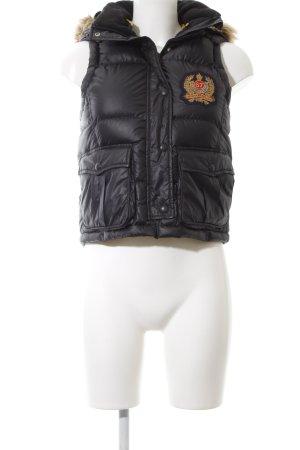 Polo Jeans Company Steppweste schwarz Steppmuster Casual-Look
