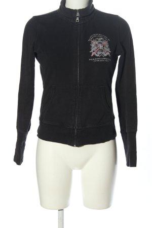 Polo Jeans Company Sweatjacke schwarz Motivdruck Casual-Look