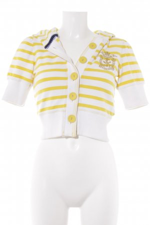 Polo Jeans Company Sweatshirt weiß-blassgelb Streifenmuster Casual-Look