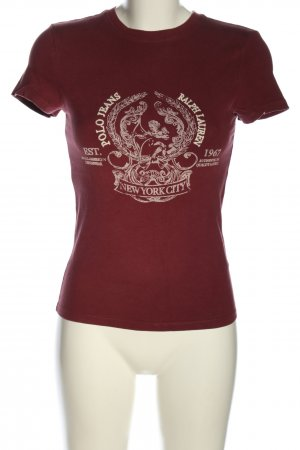 Polo Jeans Company T-Shirt rot-weiß Motivdruck Casual-Look