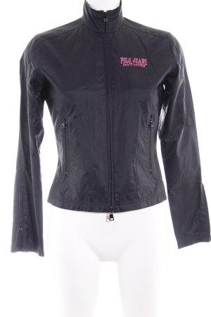 Polo Jeans Company Übergangsjacke schwarz-pink Casual-Look