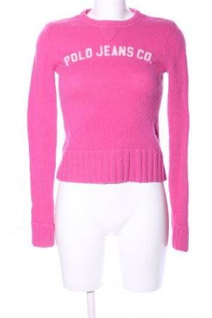 Polo Jeans Company Wollpullover pink Casual-Look