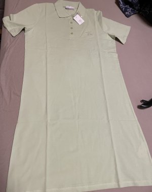 Helena Vera Polo Dress pale green-green grey cotton