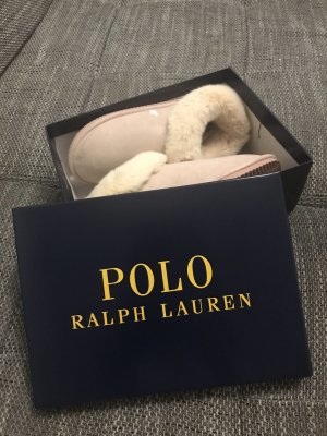 Lauren by Ralph Lauren Pantuflas color rosa dorado