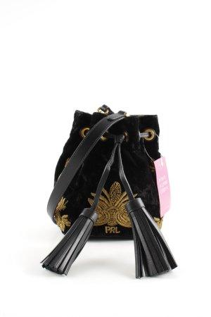 Polo Ralph Lauren Beuteltasche schwarz-goldfarben Casual-Look