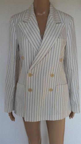 Polo Ralph Lauren, Blazer, cream-black striped, 36 (US 6), Baumwolle/Leinen/Seide, neu, € 650,-