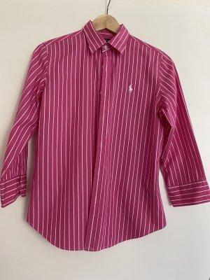 Polo Ralph Lauren Bluse pink weiss gestreift Gr. 38