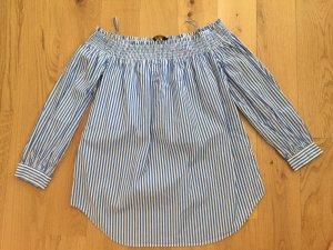 Polo Ralph Lauren Carmen blouse wit-donkerblauw Katoen