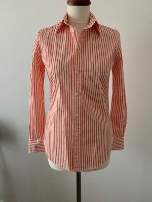Polo Ralph Lauren, Bluse weiß orange gestreift,US 4 / 36- 100%Original - wie neu